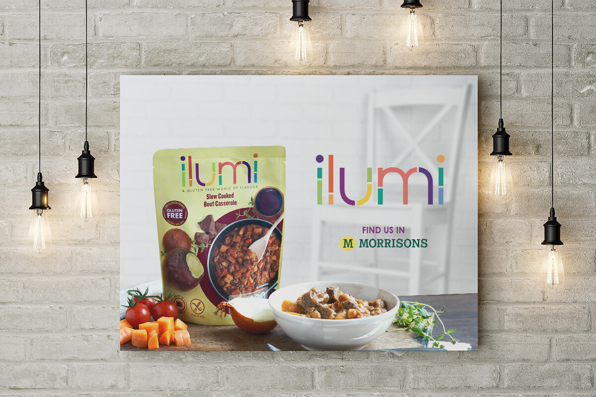 Poster Design for Morrisons and ilumi foods